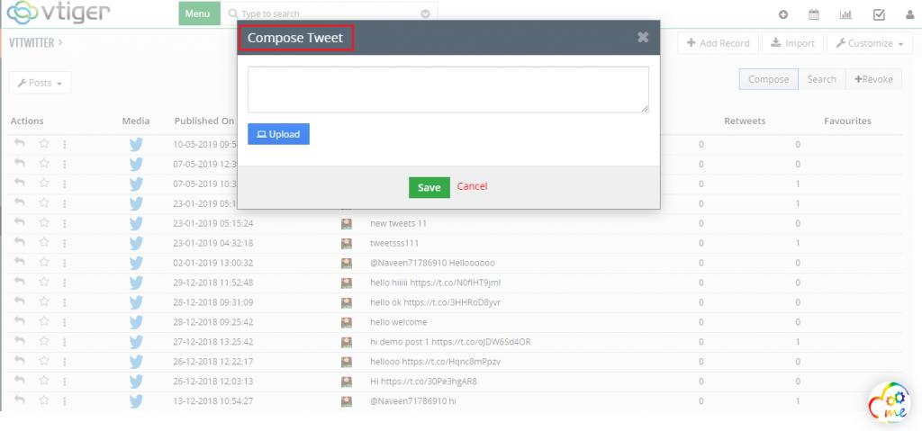 vtTwitter integration plugin