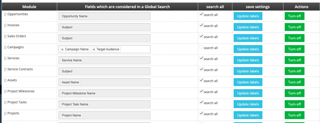 vtGlobal Search for vtiger crm